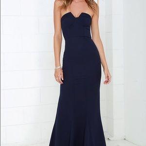 60d1e2a17e2a Lulu's Dresses | Lulus Ladylove Navy Blue Strapless Maxi Dress ...
